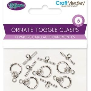 Set of 5 Ornate Toggle Clasps
